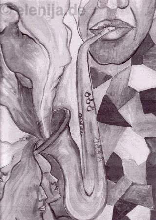 Melodie des Saxophons, von Elenija