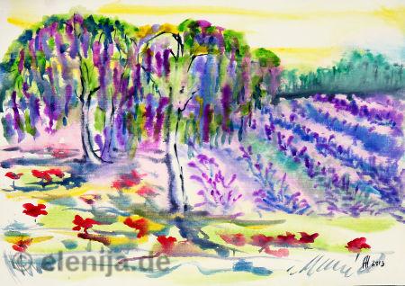 Lavendelfeld, von Elenija