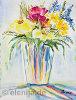 Blumenstrauß in Vase